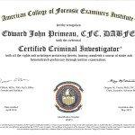 Certified Criminal Investigator-ACFEI