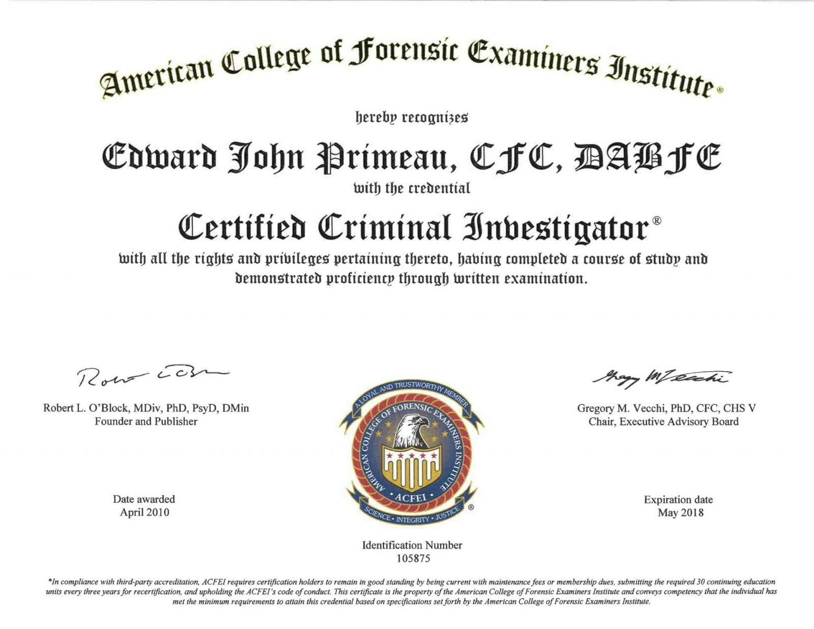 how to become a certified investigator
