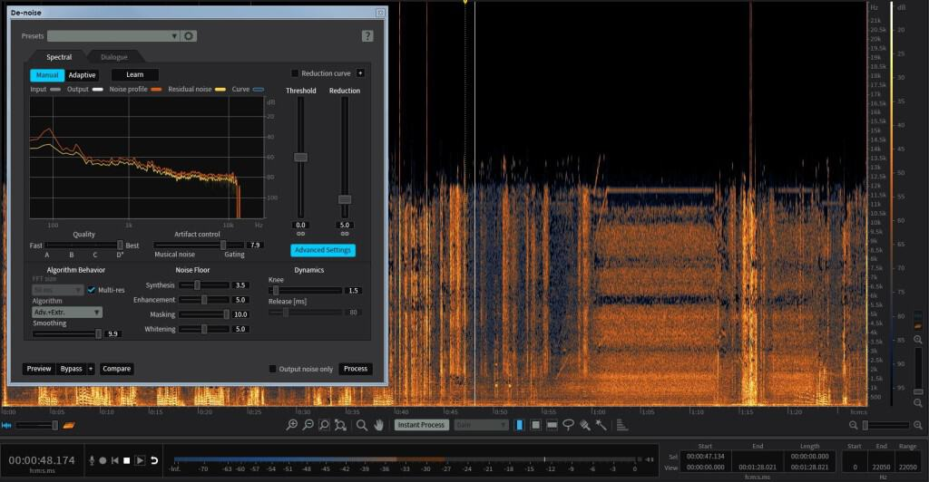 forensic audio enhancement noise reduction