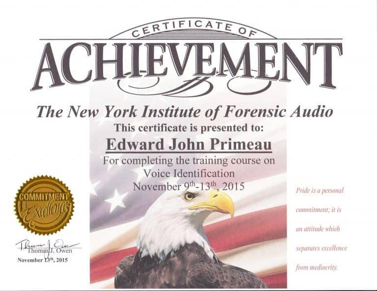 Voice Identification Training